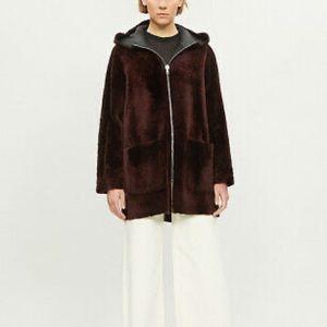 New Sandro reversible shearling jacket